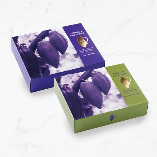 【限定セット20%OFF!】カカオクランチバー 2種×5箱セット(ダークチョコ&抹茶)
