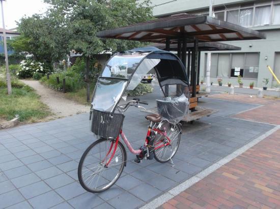 電動アシスト自転車にUVカット、薄紫の防水生地の雨除け、風よけ 日除け のグッズ アイテム(1重、サイドパーツ)ギャラクシーS…