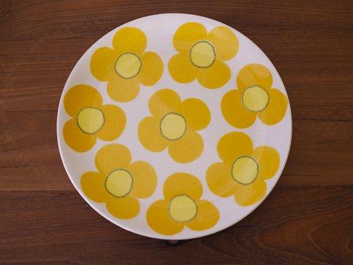 Arabia Aurinko  黄ケーキプレート