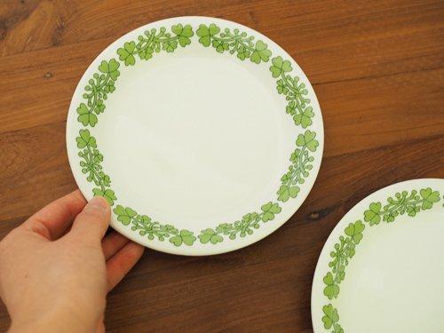 Arabia グリーン  ケーキプレート