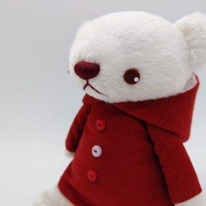 パーカー服のくま(紅葉色)