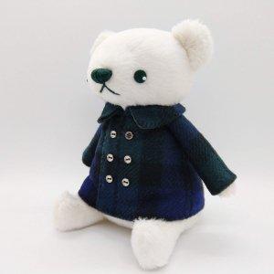 コート服のくま(緑)