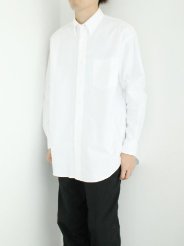 『WHITEサイズ1のみ:残り1点』Oxford B.D Box Shirt【 Graphpaper 2016 AW】