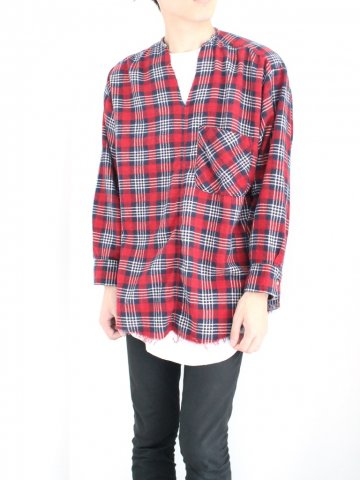 "<img class='new_mark_img1' src='//img.shop-pro.jp/img/new/icons43.gif' style='border:none;display:inline;margin:0px;padding:0px;width:auto;' />TUNIC SHIRT ""FLANNEL"" No.05【OLD PARK 2016AW】"