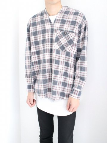 "<img class='new_mark_img1' src='//img.shop-pro.jp/img/new/icons43.gif' style='border:none;display:inline;margin:0px;padding:0px;width:auto;' />TUNIC SHIRT ""FLANNEL"" No.06【OLD PARK 2016AW】"