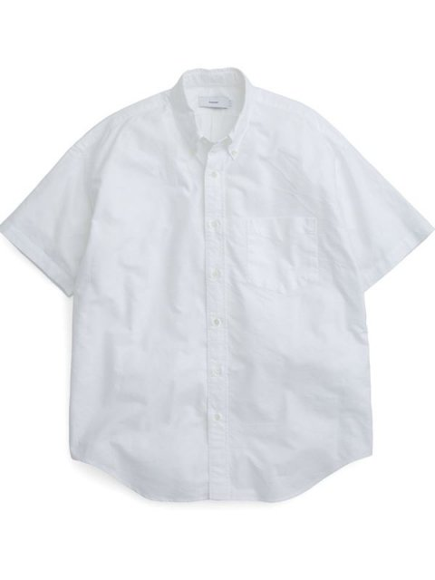 <img class='new_mark_img1' src='//img.shop-pro.jp/img/new/icons1.gif' style='border:none;display:inline;margin:0px;padding:0px;width:auto;' />Oxford S/S B.D Box Shirt : WHITE【Graphpaper  2017SS】