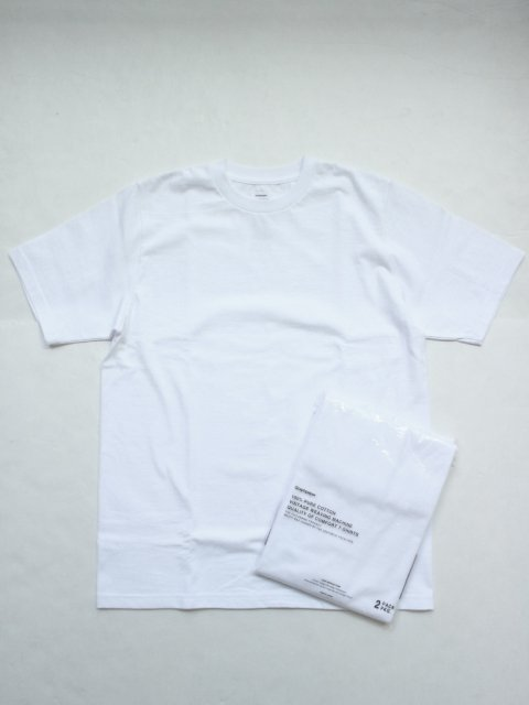 <img class='new_mark_img1' src='//img.shop-pro.jp/img/new/icons1.gif' style='border:none;display:inline;margin:0px;padding:0px;width:auto;' />Original 2-PACK Crew Neck Tee : WHITE【Graphpaper  2017SS】