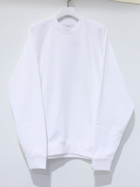 <img class='new_mark_img1' src='//img.shop-pro.jp/img/new/icons1.gif' style='border:none;display:inline;margin:0px;padding:0px;width:auto;' />LOOPWHEELER for Graphpaper Raglan Sweat : ホワイト【 Graphpaper  2017SS】