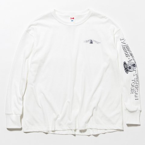 MM AMRICAN TOUR BIG L/S TEE : WHITE 【 VOTE MAKE NEW CLOTHES 2017SS】