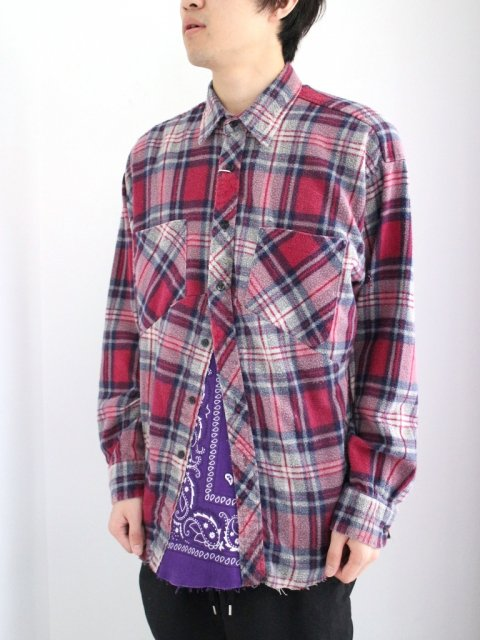 <img class='new_mark_img1' src='//img.shop-pro.jp/img/new/icons1.gif' style='border:none;display:inline;margin:0px;padding:0px;width:auto;' />DARTS SHIRT FLANNEL:No.2【 OLD PARK 2017SS 】