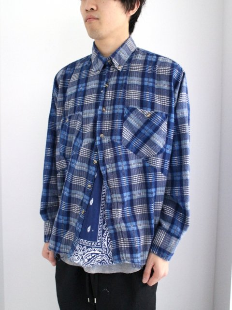 <img class='new_mark_img1' src='//img.shop-pro.jp/img/new/icons1.gif' style='border:none;display:inline;margin:0px;padding:0px;width:auto;' />【完売】DARTS SHIRT FLANNEL:No.4【 OLD PARK 2017SS 】