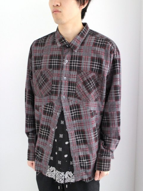 <img class='new_mark_img1' src='//img.shop-pro.jp/img/new/icons1.gif' style='border:none;display:inline;margin:0px;padding:0px;width:auto;' />DARTS SHIRT FLANNEL:No.5【 OLD PARK 2017SS 】