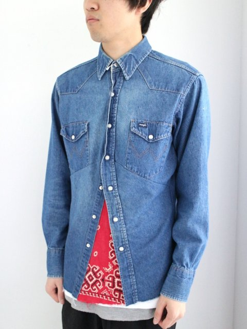 <img class='new_mark_img1' src='//img.shop-pro.jp/img/new/icons1.gif' style='border:none;display:inline;margin:0px;padding:0px;width:auto;' />DARTS SHIRT DENIM :No.1【 OLD PARK 2017SS 】