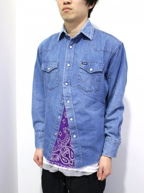 <img class='new_mark_img1' src='//img.shop-pro.jp/img/new/icons1.gif' style='border:none;display:inline;margin:0px;padding:0px;width:auto;' />DARTS SHIRT DENIM :No.3【 OLD PARK 2017SS 】