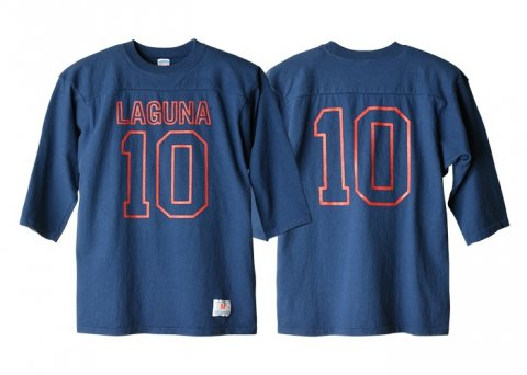 <img class='new_mark_img1' src='//img.shop-pro.jp/img/new/icons1.gif' style='border:none;display:inline;margin:0px;padding:0px;width:auto;' />CHAMPION×SD Football T:ネイビー【STANDARD CALIFORNIA 2017SS】