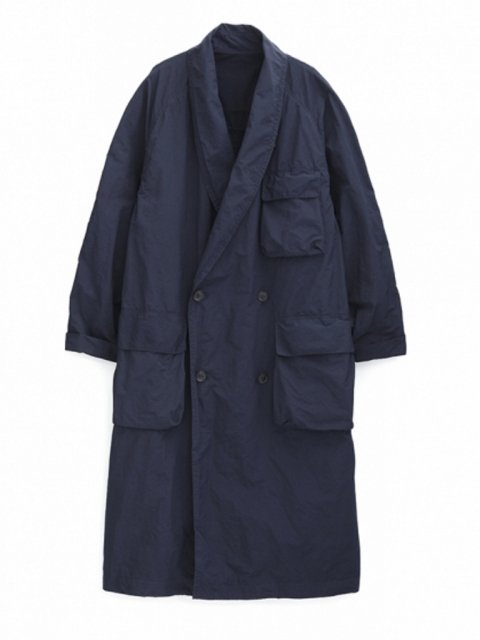 <img class='new_mark_img1' src='//img.shop-pro.jp/img/new/icons43.gif' style='border:none;display:inline;margin:0px;padding:0px;width:auto;' />Pe/Ny Shawl Collar Shop Coat: NAVY【Graphpaper  2017SS】
