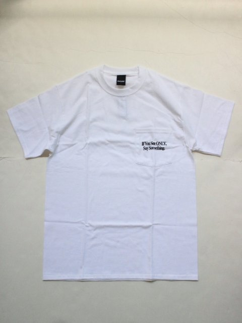<img class='new_mark_img1' src='//img.shop-pro.jp/img/new/icons1.gif' style='border:none;display:inline;margin:0px;padding:0px;width:auto;' />SAY SOMETHING POCKET T-SHIRT:White【 Only NY 2017SS】