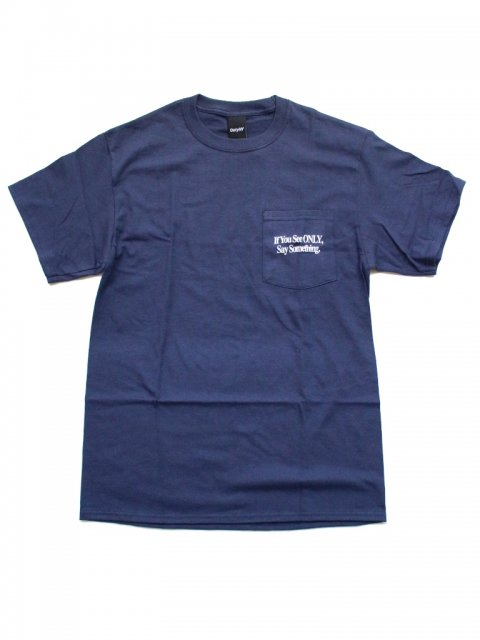 <img class='new_mark_img1' src='//img.shop-pro.jp/img/new/icons1.gif' style='border:none;display:inline;margin:0px;padding:0px;width:auto;' />SAY SOMETHING POCKET T-SHIRT:Navy【 Only NY 2017SS】