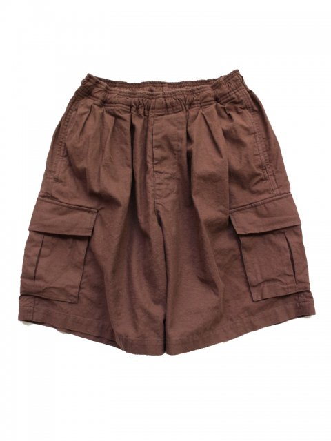 <img class='new_mark_img1' src='//img.shop-pro.jp/img/new/icons43.gif' style='border:none;display:inline;margin:0px;padding:0px;width:auto;' />Pile pocket 2 tack cargo shorts:BROWN【 GOOFY CREATION 2017SS】