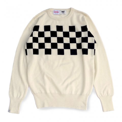 <img class='new_mark_img1' src='//img.shop-pro.jp/img/new/icons16.gif' style='border:none;display:inline;margin:0px;padding:0px;width:auto;' />Checker Sweater
