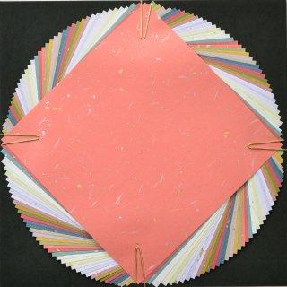 金箔散らし折り紙★15cm×15cm【日本の伝統色20色|40枚入り】