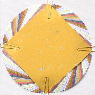 金箔散らし折り紙★10cm×10cm【日本の伝統色20色|40枚入り】