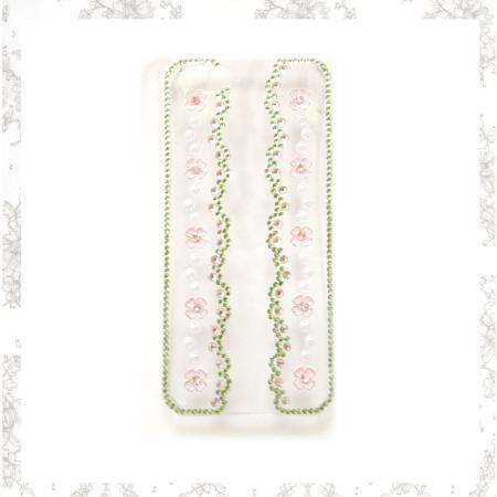 iphone5アイフォン5ケース キラキララインストーン使いフラワーオリジナルデザインデコケース