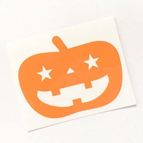 かぼちゃステッカー H38×W50mm ハロウィンイベント デカール デコシール 文字シール 切文字