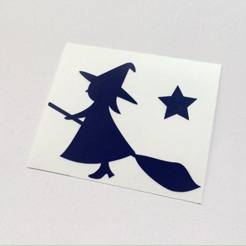 魔女ステッカー H60×W80mm ハロウィンイベント デカール デコシール 文字シール 切文字