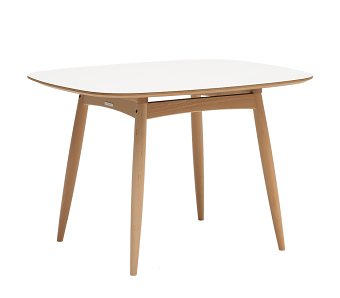 カリモク60+ Dテーブル ピュアビーチ色(天板ホワイト)