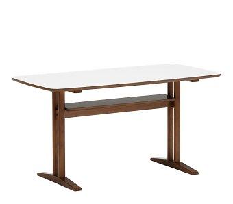カリモク60+ カフェテーブル1200 ウォールナット色(天板ホワイト)