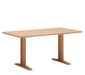 カリモク60+ ダイニングテーブルT 1500(2本脚) ピュアビーチ色