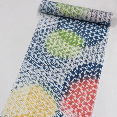 5月から9月まで着まわす綿麻きもの「5−9きもの」<BR>麻の葉バルーン<BR>花想容×丸久商店
