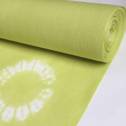 5月から9月まで着まわす綿麻きもの「5−9きもの」<BR>藤井絞<BR>縫い締め大根巻<BR>マスカットグリーン