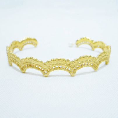 wave bangle gold