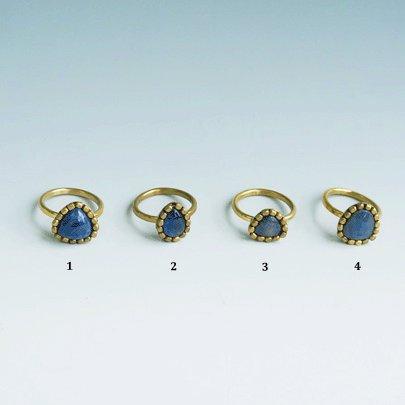 Raw sapphire Ring  Blue     #11