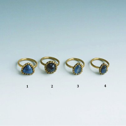 Raw spphire Ring  #13  Blue