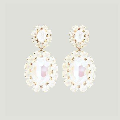 Oversized Bijoux Earrings   <WHITE>