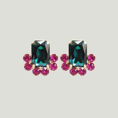 Loulou Earrings   <EMERALD>
