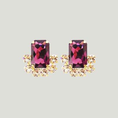 Loulou Earrings  <AMETHYST>