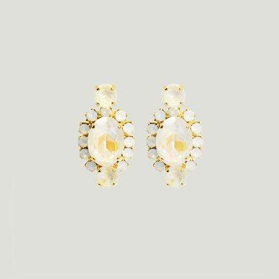 Oval Bijoux Earrings   <WHITE>