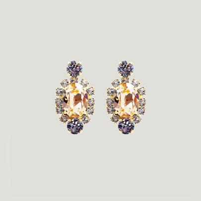 Oval Bijoux Earrings <PEACH>