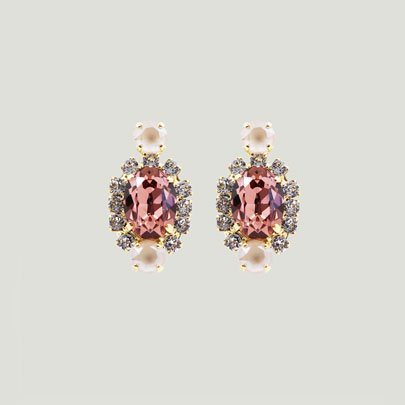 Oval Bijoux Earrings   <ANTIQUE PINK>