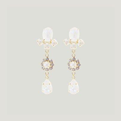 Mini Drop Bijoux Earrings   <WHITE>