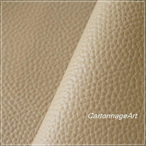カルトナージュ用 薄手本革  シャーロット-トープ