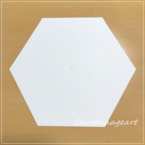 六角形ベース Mケント紙