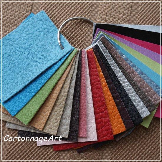 芦屋Marty leather color sample set