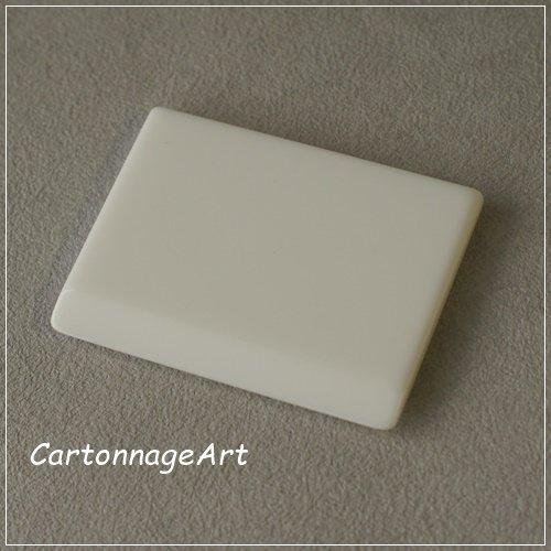 【カルトナージュ用平面へら】CA-PAVE(パヴェ)White