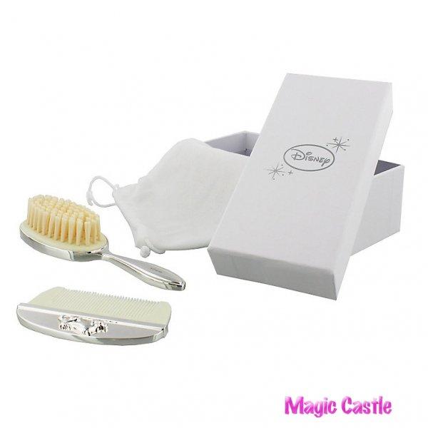 くまのプーさん シルバーベビー ブラシ&くしセット Disney Christening Silver Plated Pooh Bear Brush & Comb Set
