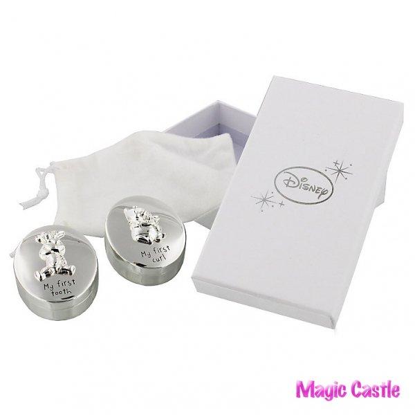 くまのプーさん シルバーベビー 乳歯、産毛ケース Disney Christening Silver Plated Pooh Bear Tooth & Curl Set